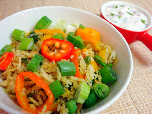 Sweet Bell Pepper Pulao