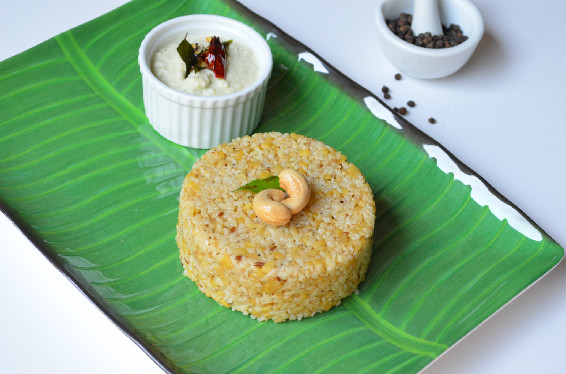 Wheat Rava Pongal ~ Coconut Chutney