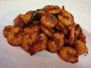 Royyala vepudu ~ Prawn fry